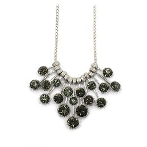 Fashion pendant green circle crystal necklace